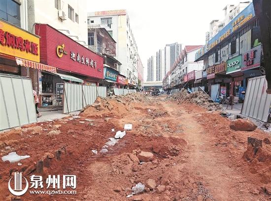 泉州丰泽田淮街道路施工改造 工程预计12月底完工
