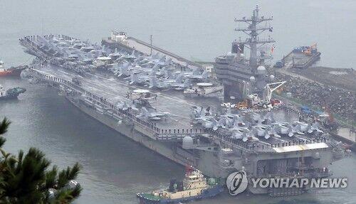 朝鲜半岛最新消息 韩美联演军力强于往年 美军核航母或在韩停留