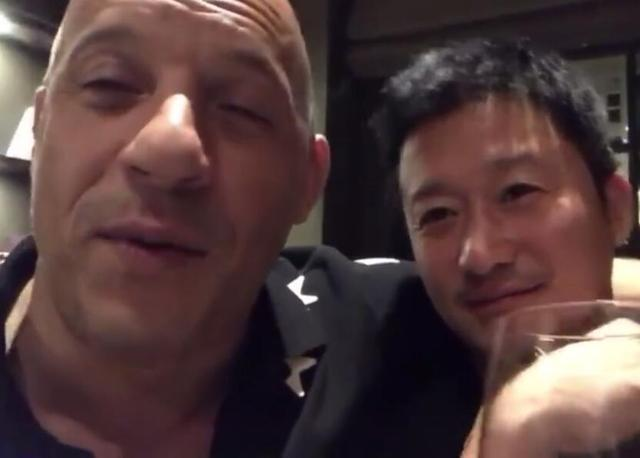 """吴京教范迪塞尔说汉语""""哥们"""",两人要合作,速激9还是战狼3?"""