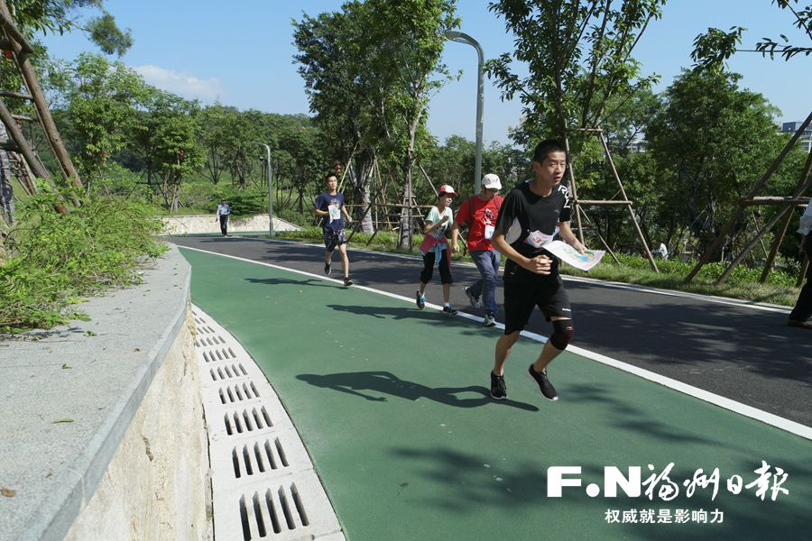 仓山全民健身运动会定向越野赛在飞凤山奥体公园举行