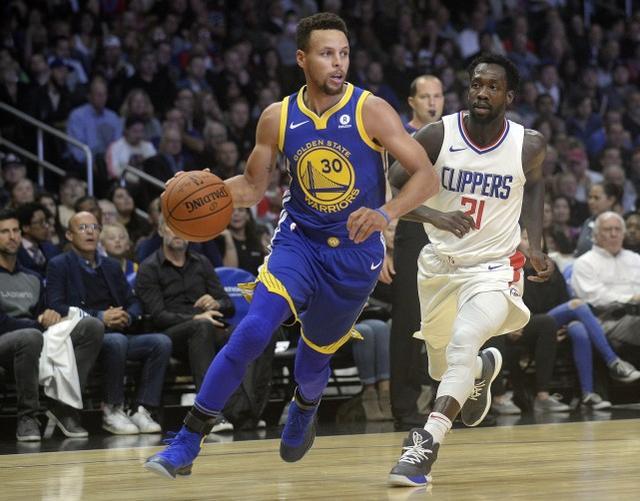 NBA-四巨头合取81分 勇士对快船轻松取胜