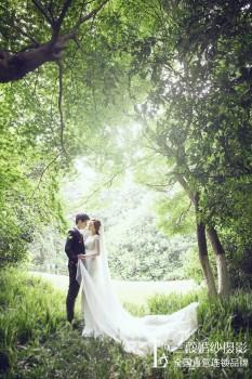 杭州三亚照婚纱将夜景的美拍摄到极致
