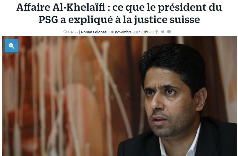 巴黎人报:巴黎主席涉嫌为世界杯转播权行贿