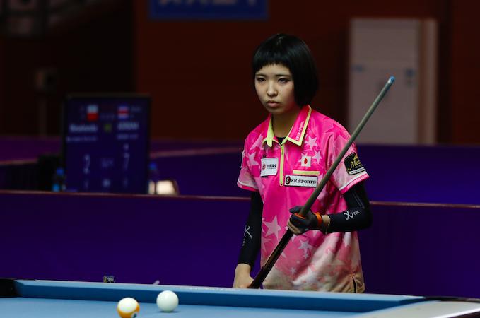 女子9球锦标赛刘莎莎9-2横扫日本天才少女 盛赞其年纪小很灵气