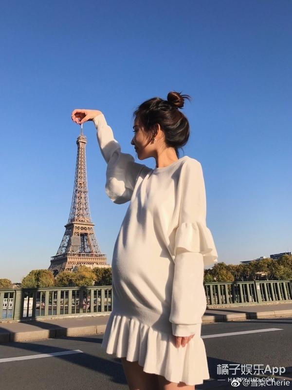 王思聪前女友雪梨晒孕照,除了肚子,其他一点都没胖惹人艳羡(3)