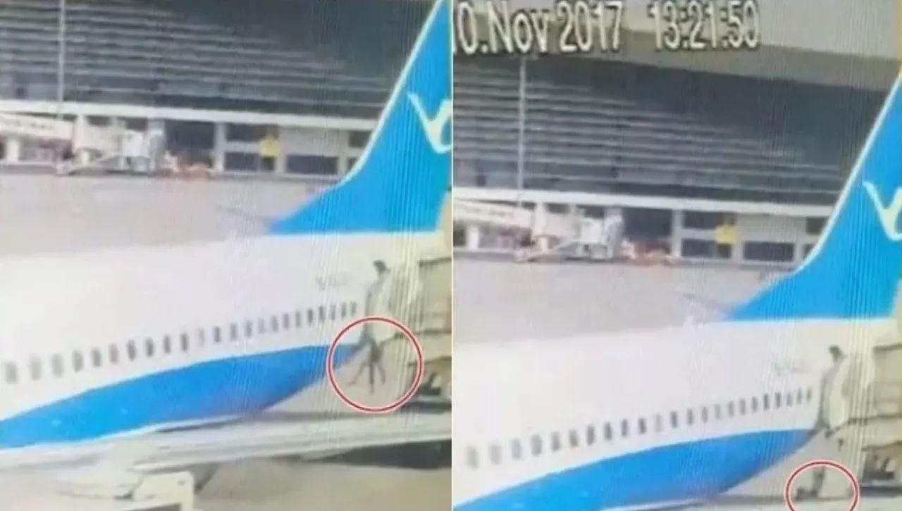 厦航一空姐从波音737舱门处跌落!监控画面十分揪心