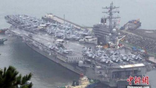 朝鲜半岛最新消息 美三艘航母进入朝鲜半岛东部海域参与韩美军演