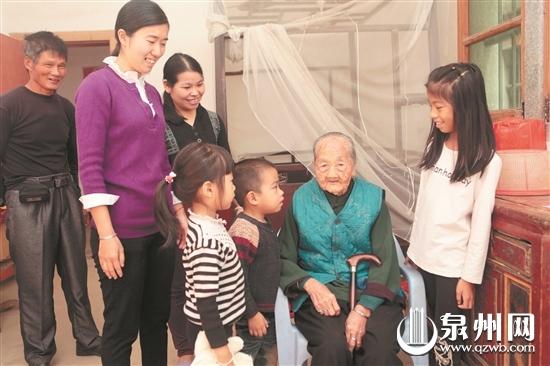 泉州同胞三姐妹年龄皆过百岁,有两姐妹还在世