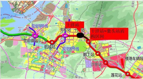 长乐段地铁站线路图