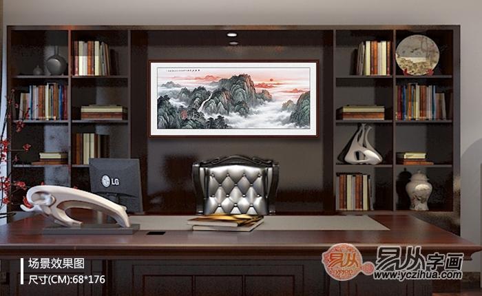 这些常见的挂在办公室的泰山山水画作品,真是太有内涵了!