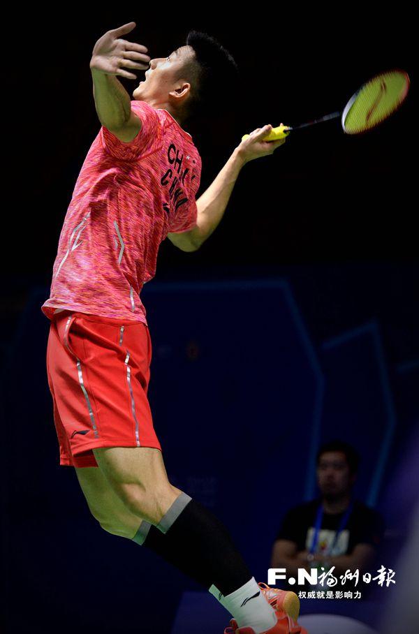 中国羽毛球公开赛正赛第二轮:谌龙赢球 张楠连胜