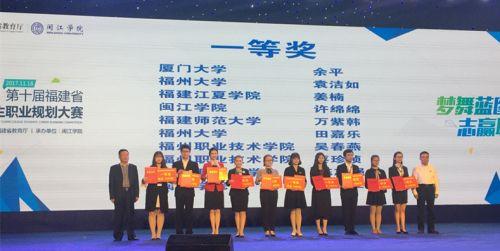 第十届福建省大学生职业规划大赛圆满落幕