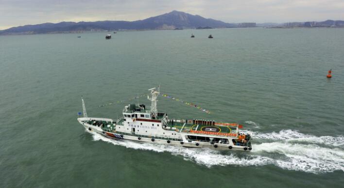 福建海区首次开展冬季海空联合巡航救助活动