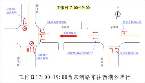 福州首条潮汐车道来了:设在东浦路 12月12日实施