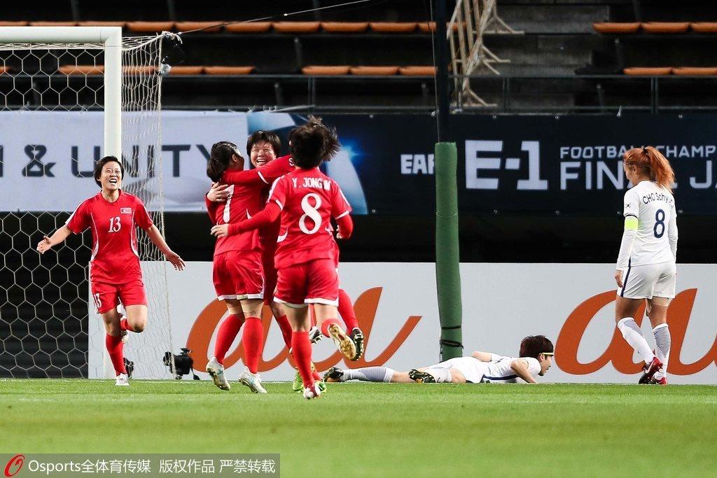 女足东亚杯:金润美甩头破门 朝鲜1-0韩国夺2连胜