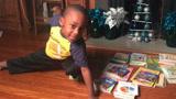 4岁男孩一天阅读100本书