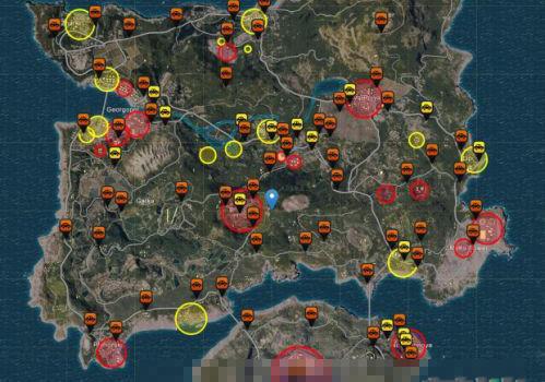 绝地求生大逃杀车辆载具在哪找 全物资及刷车点地图