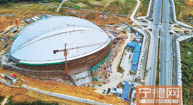 宁德福安市奥体中心综合馆本月底将基本建成