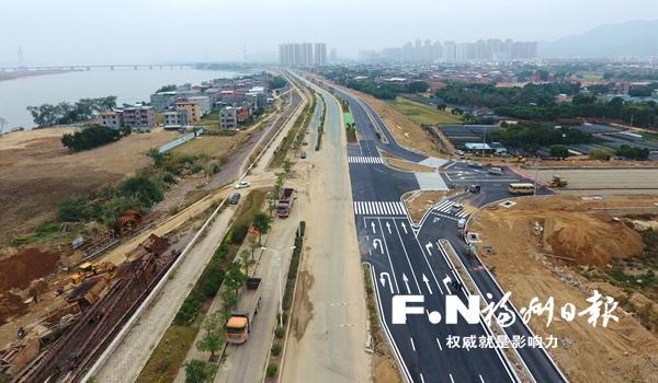 福州高新区乌龙江大道一期提前通车 全长4.09公里