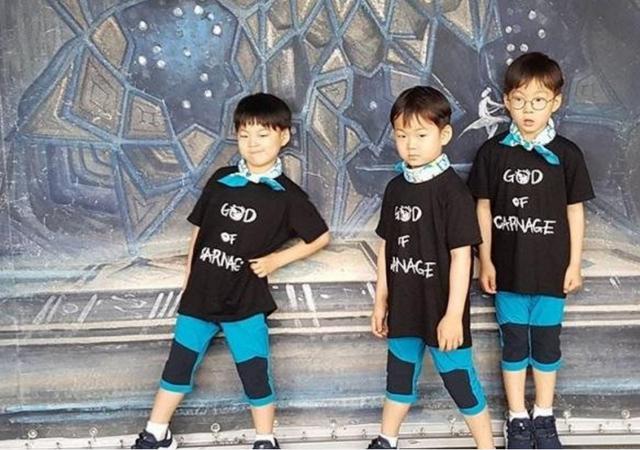 据说三个小可爱现在的身高竟然神奇的各差2cm,大韩最高,民国第二,万岁