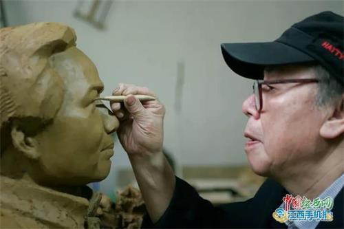 萍乡雕塑家朱照林50年如一日 用艺术弘扬中国精神