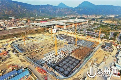 泉州动车站综合枢纽项目一期主体结构或明年国庆前完工
