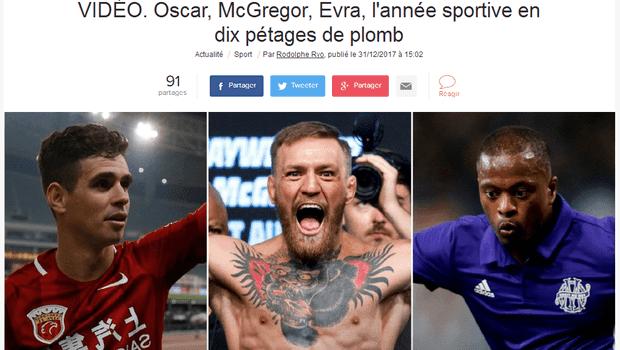 法媒盘点2017年体育届不冷静事件,奥斯卡上榜