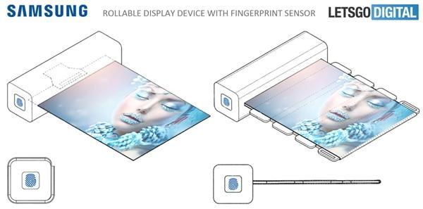 三星新专利曝光:带指纹的卷曲显示屏 解锁才能用