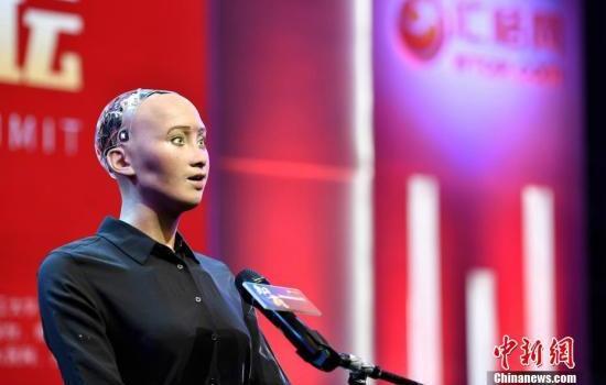 沙特机器人公民索菲亚出访印度 被求婚礼貌婉拒