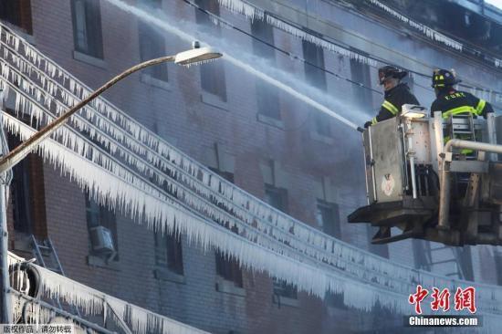 美国严寒已致8人冻死 低温仍将持续40州发警报