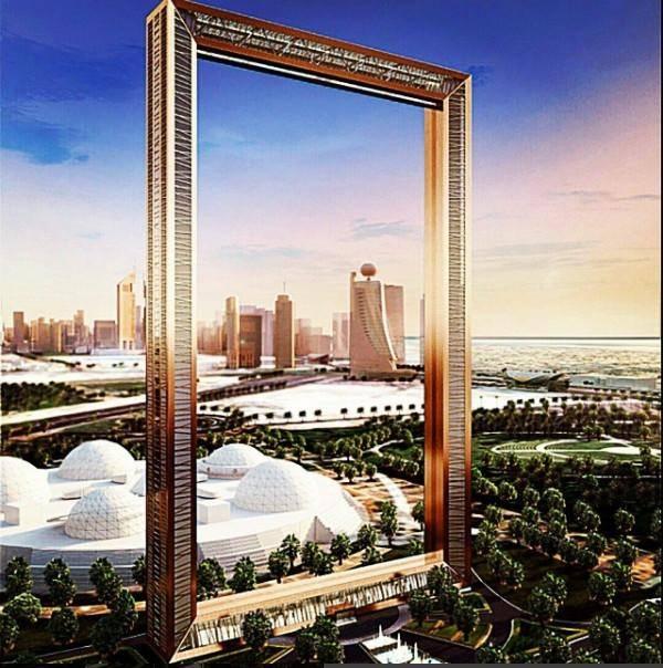 """迪拜新地标""""迪拜之框""""揭秘 超现实主义建筑造型似巨型画框"""