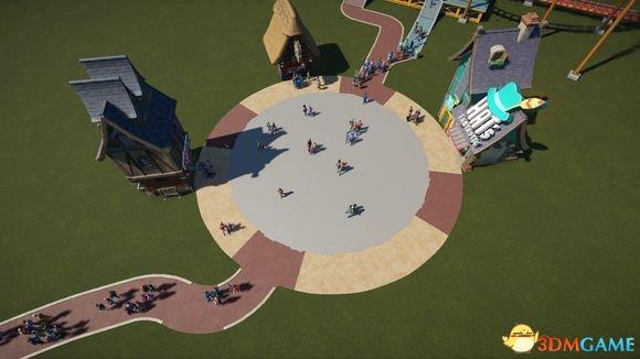 过山车之星道路和广场建设技巧 看起来更美观