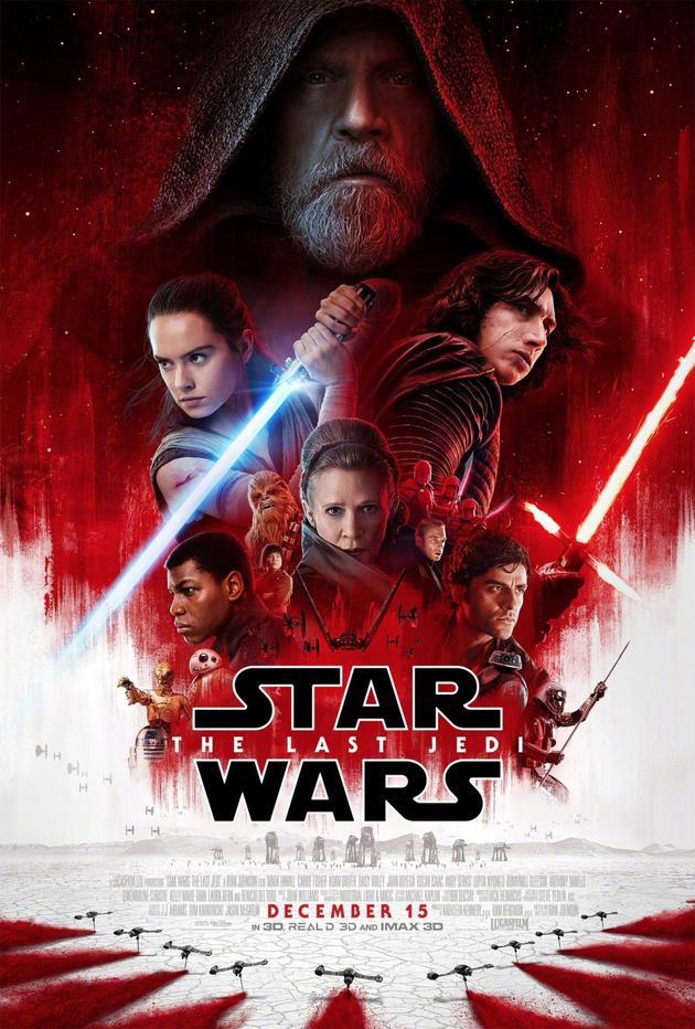 《星战8》最新票房数据 被前任3碾压 票房表现不及星战7