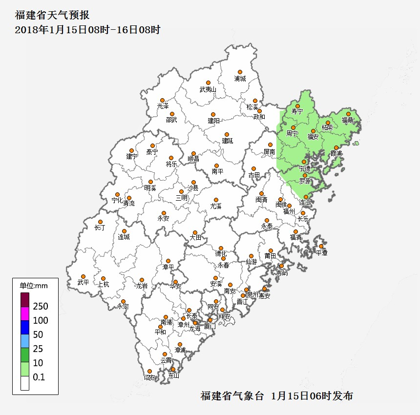 福建省今日气温明显回升,闽东北地区部分有小雨