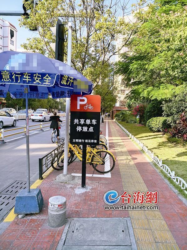 漳州市区施划停车线11处 共享单车有了固定停放点