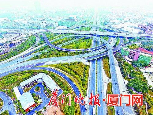 厦门海田立交通车 海翔大道同安、翔安、海沧方向的车辆可直接经此上高速