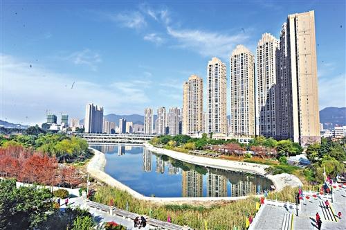 福州琴亭湖公园 春节可赏庭院花园