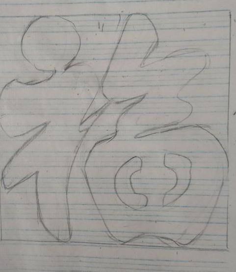 福字创意简笔画