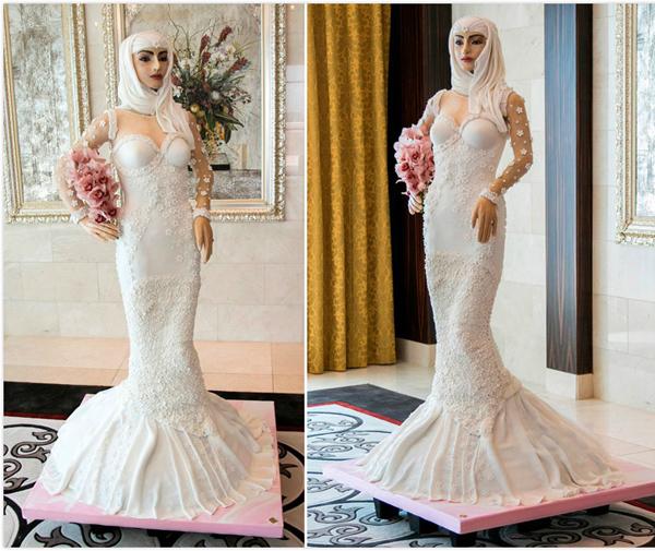 英著名设计师打造镶钻新娘蛋糕 价值逾600万元