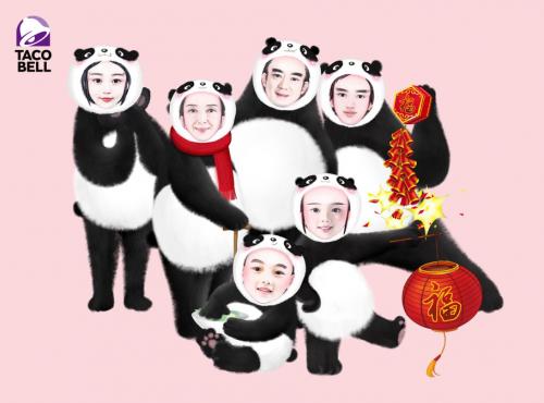 我的全家福之萌萌哒熊猫风格全家福   时代在变,潮流在变,爱的