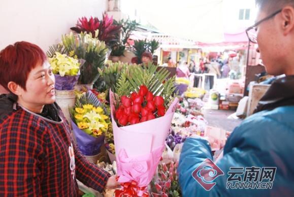 ca88亚洲城手机版下载_情人节撞上春节鲜花狂涨价 一束红玫瑰要卖120元