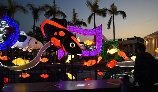 香港举行春节彩灯展