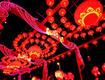 福州五城区元宵灯会亮灯 市民共享灯会盛宴