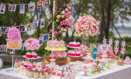 粉色主题婚礼布置场景 水蜜桃味般的粉色婚礼梦