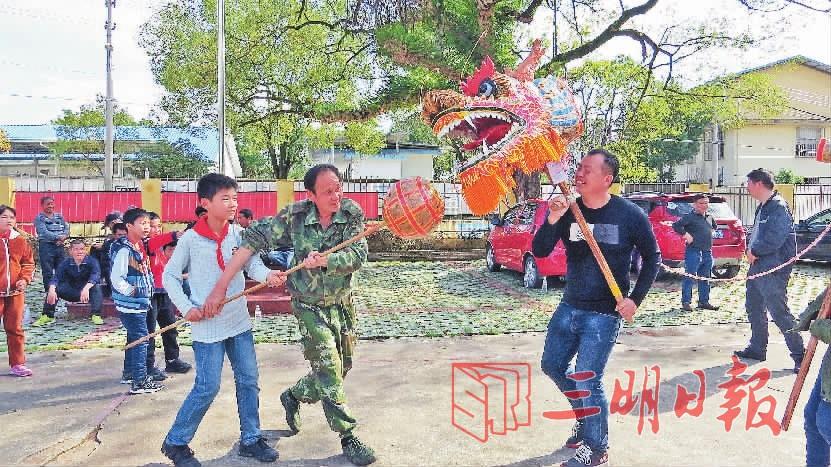 三明沙县:非物质文化遗产香龙游进高桥中心小学