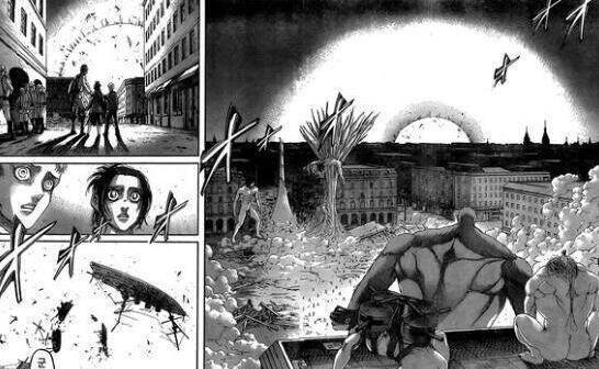 进击的漫画巨人103话v漫画兽之巨人被兵长秒杀杀逃大漫画图片