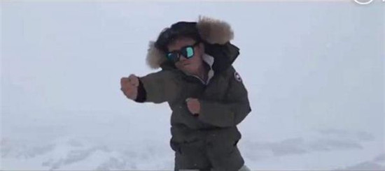 王宝强雪山上打拳 网友感叹不愧是少林寺俗家弟子!
