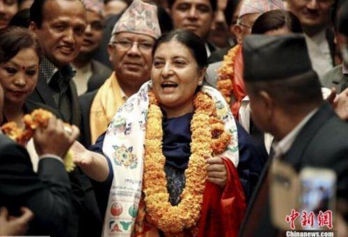 尼共(联合马列)副主席班达里再度当选尼泊尔总统