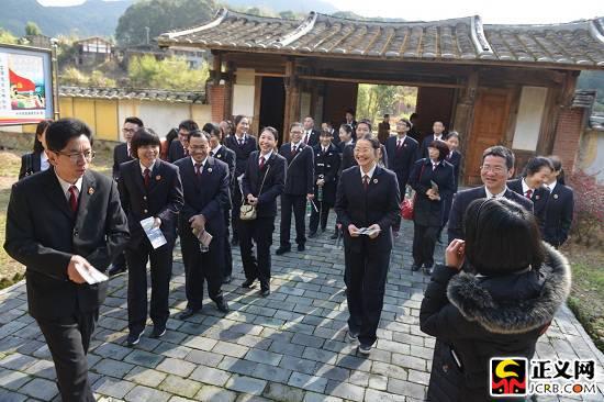 福建尤溪县检察院组织干警参观爱国主义教育基地