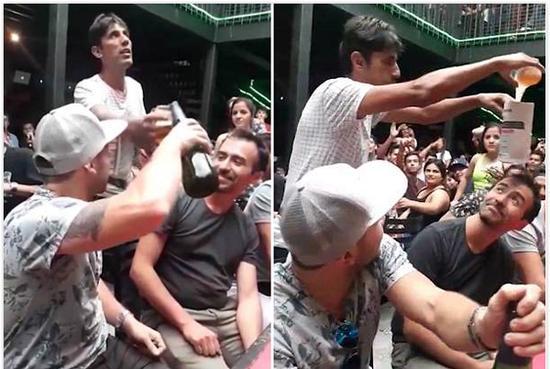 智利一大学生啤酒魔术疯传网络获数百万人围观